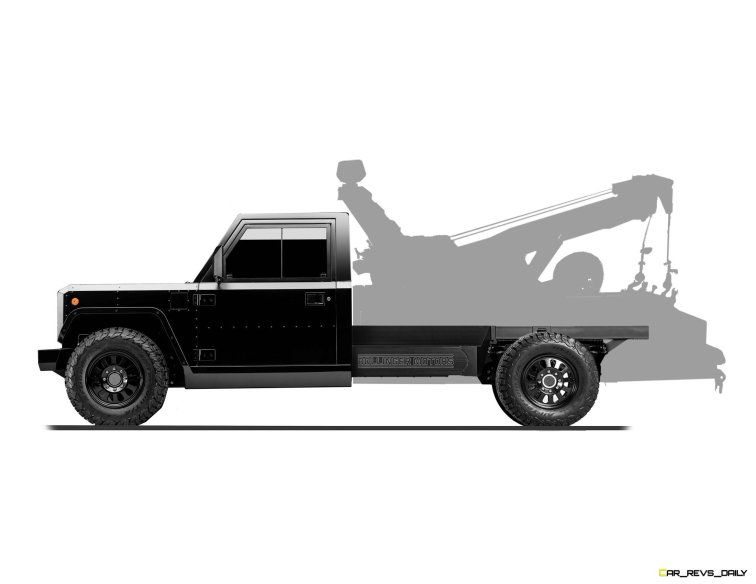 Bollinger Motors B2 Chassis Cab Tow Truck side