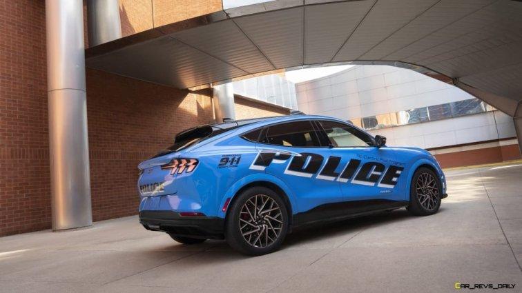 Mach-E Police Inteceptor Rear 3/4 view