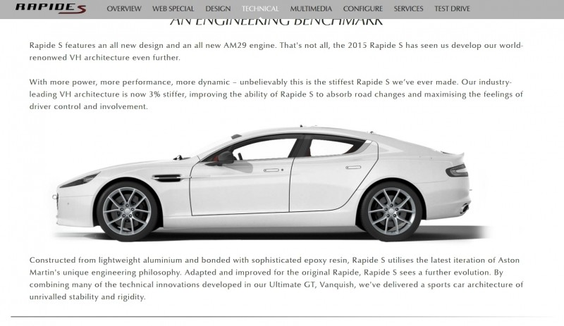 4.2s, 200-MPH 2015 Aston Martin RAPIDE S Also Nabs New Dampers, Torque-Tube and 8-Speed ZF Transaxle 25