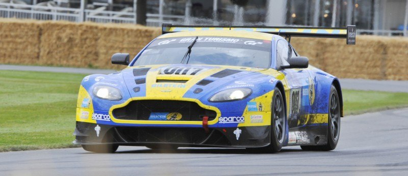 Aston Martin Zings Up Goodwood Hill (to its AMG Future) in Vantage S, Rapide S and Vanquish 1