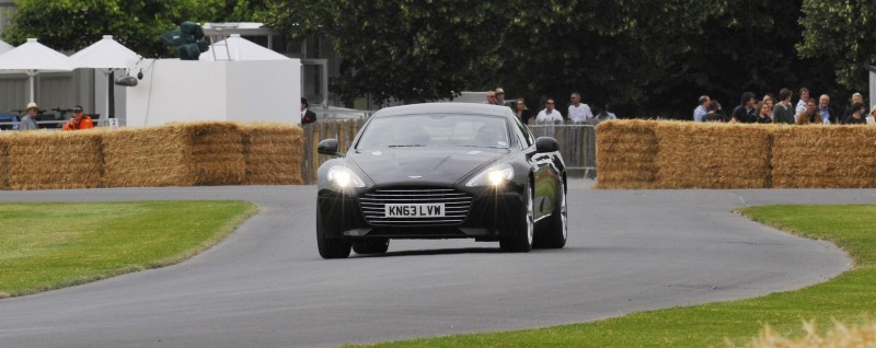 Aston Martin Zings Up Goodwood Hill (to its AMG Future) in Vantage S, Rapide S and Vanquish 2