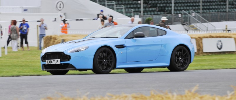 Aston Martin Zings Up Goodwood Hill (to its AMG Future) in Vantage S, Rapide S and Vanquish 8
