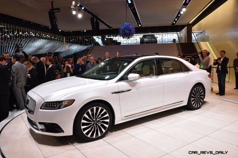 """Detroit, January 12, 2016 --€"""" Journalists from around the world with the all-new Lincoln Continental, revealed today at the North American International Auto Show. Beginning this fall, Continental offers first-class travel for clients in America and China, bringing warm, human touches and a contemporary design."""