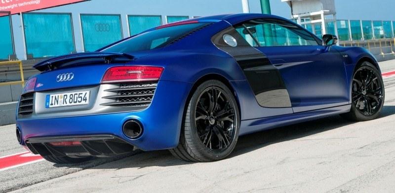 Car-Revs-Daily.com 2014 AUDI R8 V10 Plus in Sepang Matte Metallic Blue 32