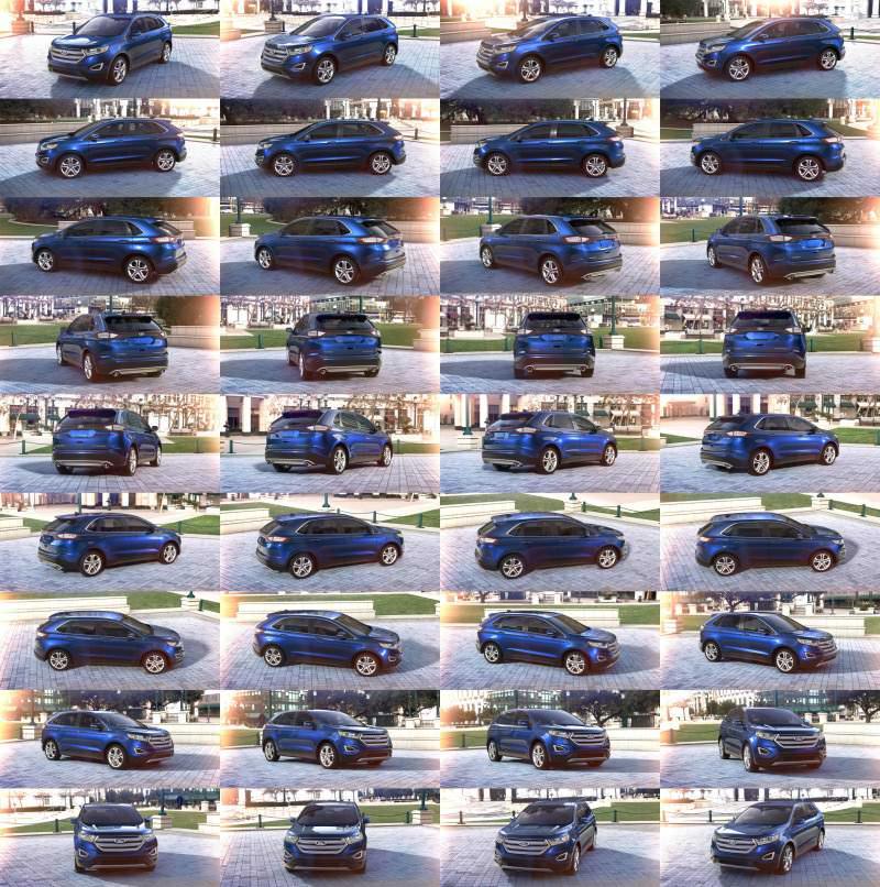 Car-Revs-Daily.com 2015 Ford Edge - DEEP IMPACT BLUE 1