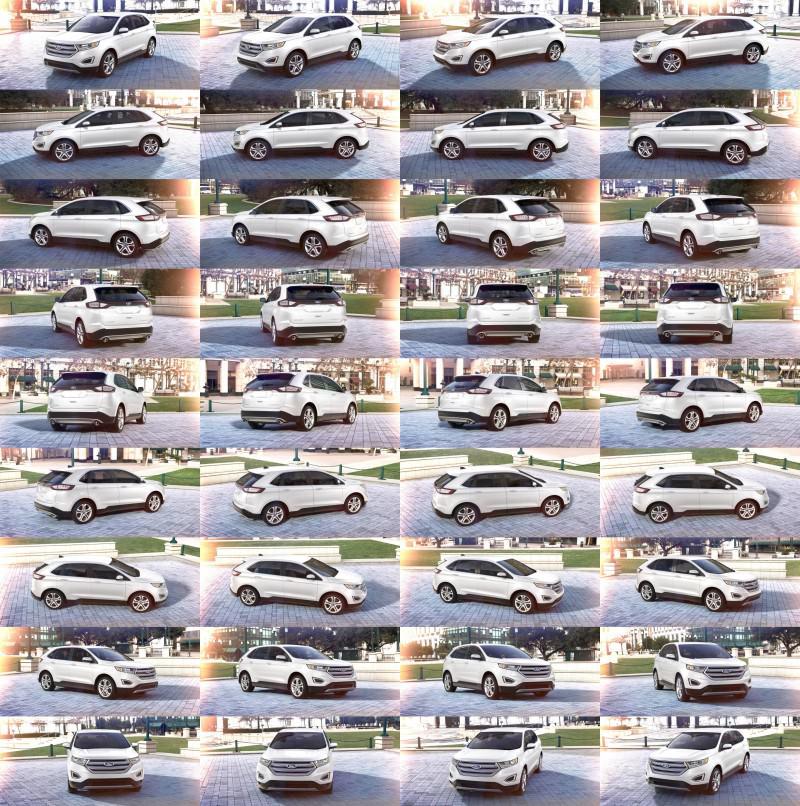 Car-Revs-Daily.com 2015 Ford Edge - Oxford White 1