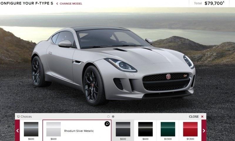Car-Revs-Daily.com 2015 JAGUAR F-Type S Coupe - Options, Exteriors and Interior Colors Detailed24