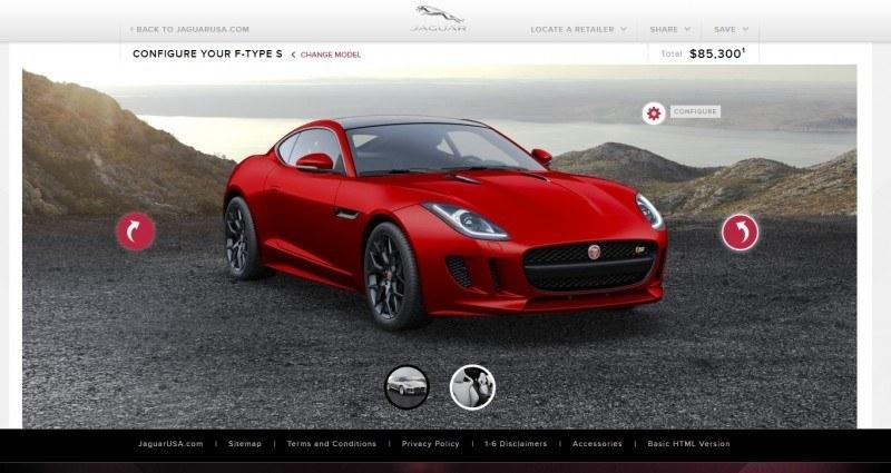Car-Revs-Daily.com 2015 JAGUAR F-Type S Coupe - Options, Exteriors and Interior Colors Detailed68