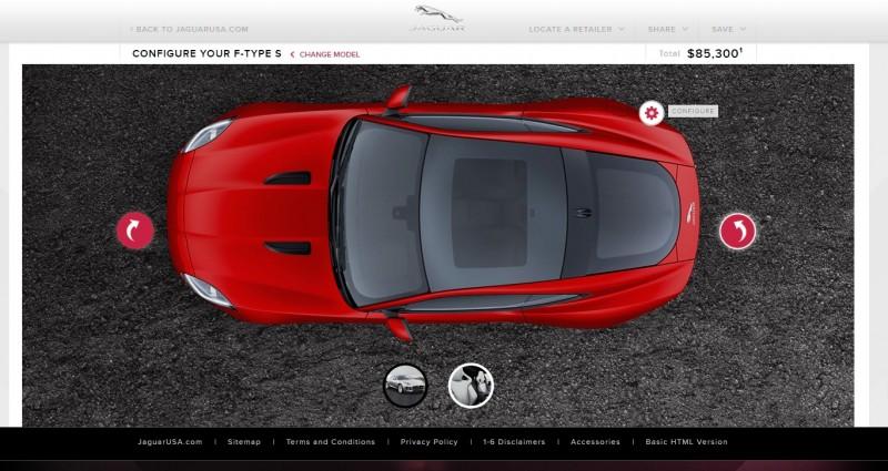 Car-Revs-Daily.com 2015 JAGUAR F-Type S Coupe - Options, Exteriors and Interior Colors Detailed74