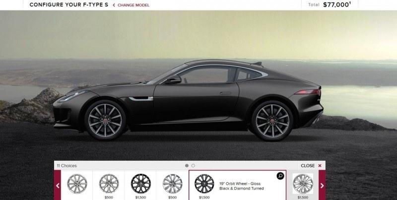 Car-Revs-Daily.com 2015 JAGUAR F-Type S Coupe - Options, Exteriors and Interior Colors Detailed8