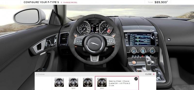 Car-Revs-Daily.com 2015 JAGUAR F-Type S Coupe - Options, Exteriors and Interior Colors Detailed99
