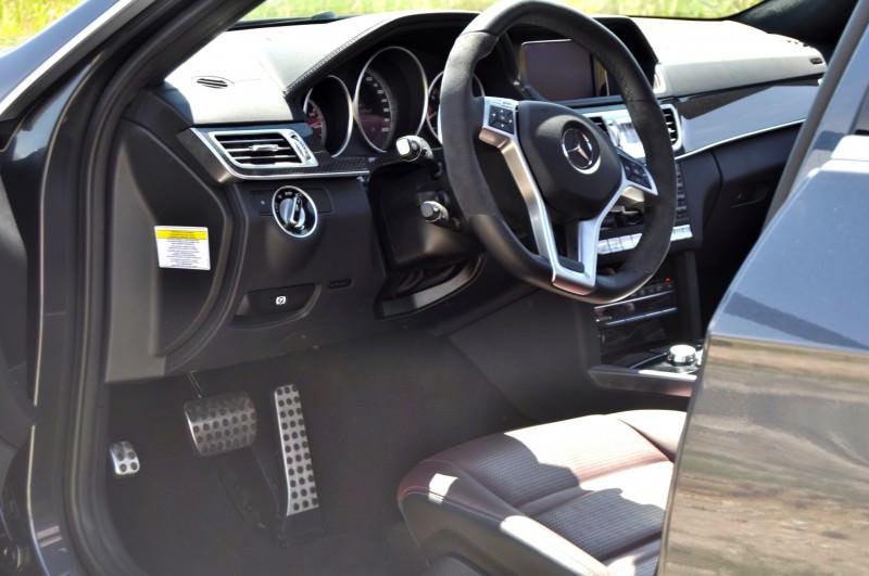 Car-Revs-Daily.com Road Tests the 2014 Mercedes-Benz E63 AMG S-Model Estate 69
