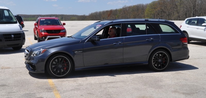 Car-Revs-Daily.com Road Tests the 2014 Mercedes-Benz E63 AMG S-Model Estate 86