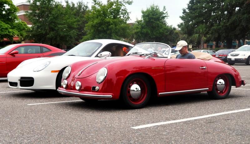 Charleston Cars and Coffee - 1955 Porsche 356 1500S Speedster 13
