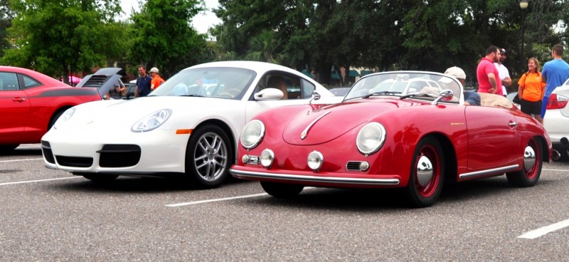 Charleston Cars and Coffee - 1955 Porsche 356 1500S Speedster 16