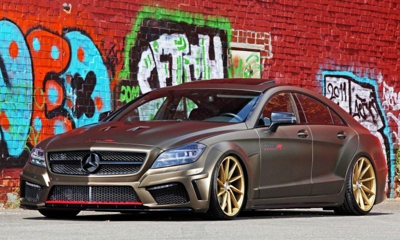 FOSTLA.de Foliation Designs A Wild Mercedes-Benz CLS in Metallic Gold Matte 15