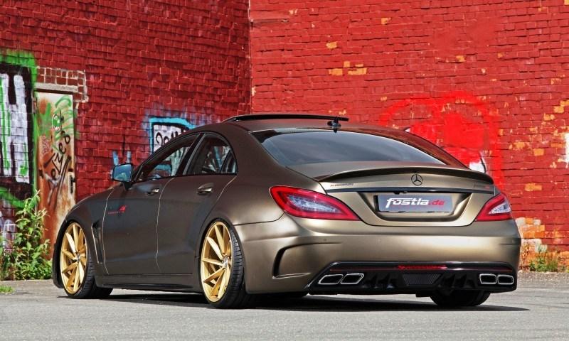 FOSTLA.de Foliation Designs A Wild Mercedes-Benz CLS in Metallic Gold Matte 16