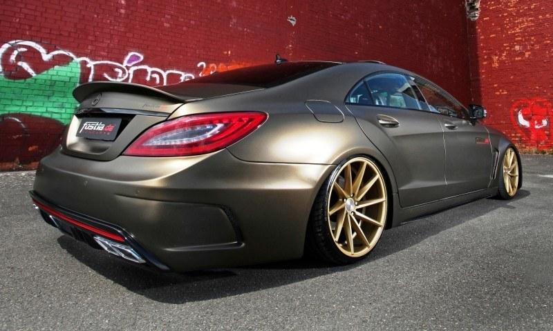 FOSTLA.de Foliation Designs A Wild Mercedes-Benz CLS in Metallic Gold Matte 2