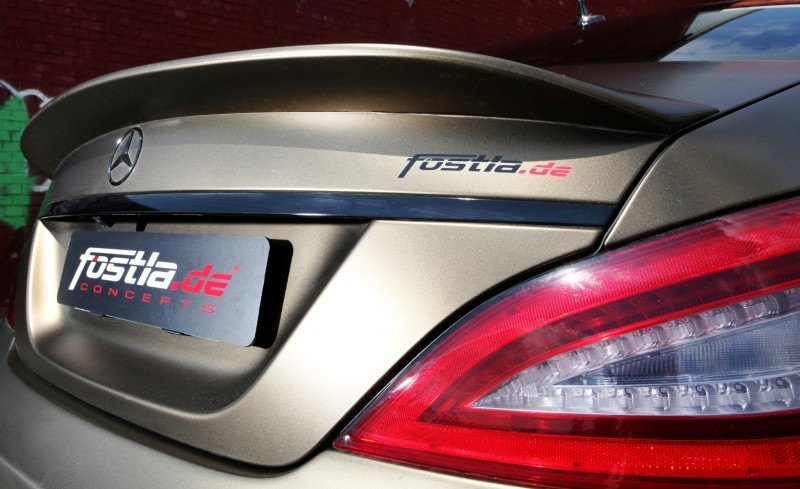 FOSTLA.de Foliation Designs A Wild Mercedes-Benz CLS in Metallic Gold Matte 7