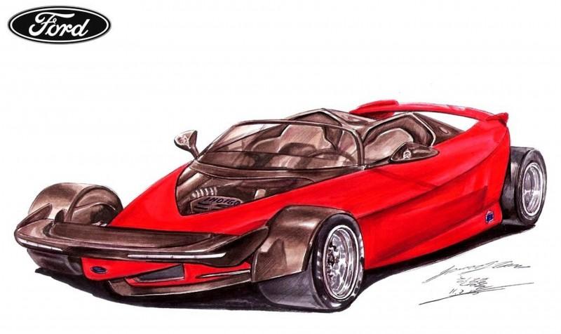 Ford Vision Gran Turismo Seems to Recall the 1996 INDIGO Open-Wheel Supercar Concept 12