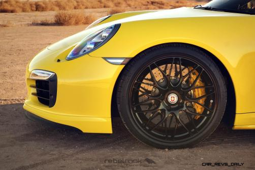 Porsche 991 Turbo S with HRE RC100 in Gloss Black_24173754535_o