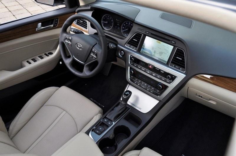 Road Test Review  2015 Hyundai Sonata  INTERIOR Focus