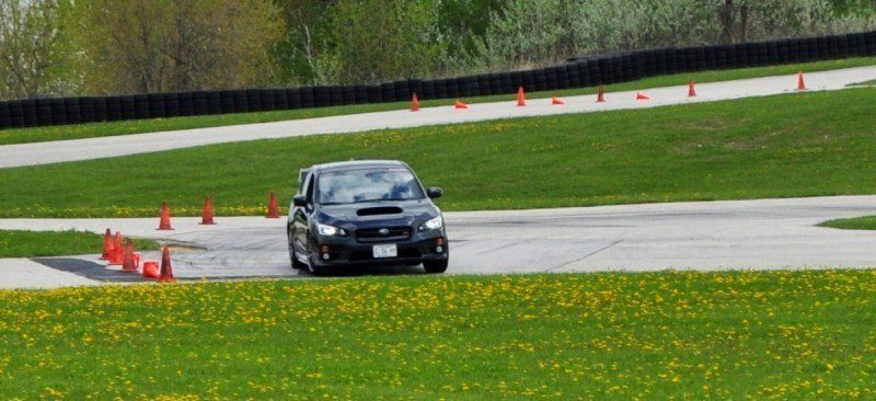 Track Test Review - 2015 Subaru WRX STI Is Brilliantly Fast, Grippy and Fun on Autocross 12