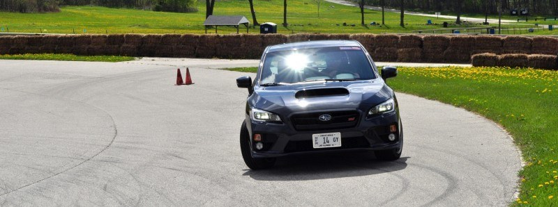 Track Test Review - 2015 Subaru WRX STI Is Brilliantly Fast, Grippy and Fun on Autocross 2