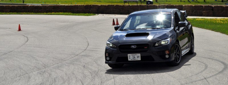 Track Test Review - 2015 Subaru WRX STI Is Brilliantly Fast, Grippy and Fun on Autocross 4