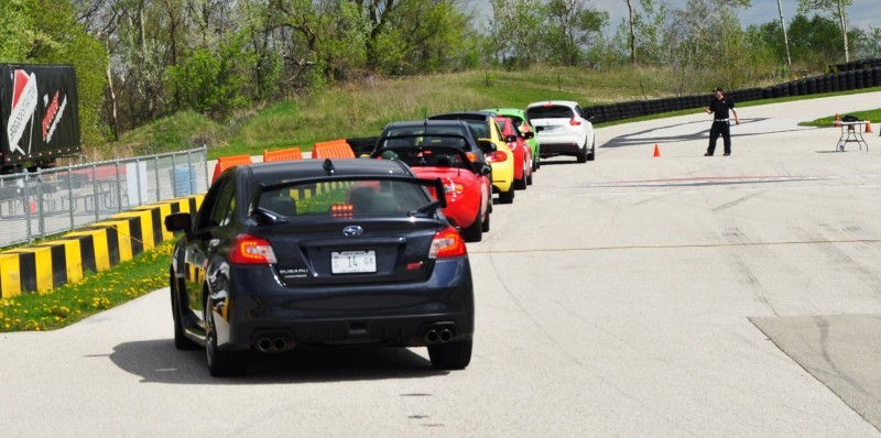 Track Test Review - 2015 Subaru WRX STI Is Brilliantly Fast, Grippy and Fun on Autocross 8