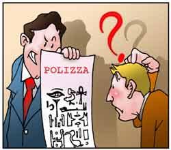 Un assicuratore propone ad un cliente una polizza poco chiara.