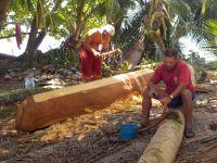fabrication d'un nouveau canoe