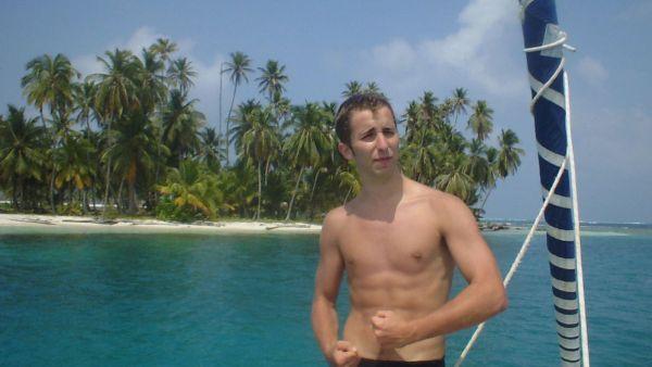 Note du Webmaster: Je n'avais pas de photo de surfer australien libre de droit... alors j'ai mis une photo de moi!