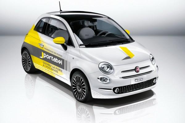 Caractère - Signalétique - Outdoor Marketing - Affichage - Lettrage - Totem - Signalisation - Lettrage Fiat 500 portabel