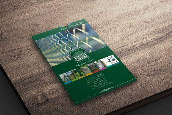 BOOGNE - Portails, clotures et matériel d'automatisation - Catalogue 2017 - Caractère advertising & communication - Print - Mock-up