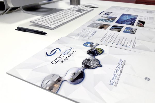 GDTech - Génie Civil - Engineering - Liege - Alleur - We have THE solution - Caractère - Agence de communication - Graphisme - Corporate - Design - Brochure - Mock Up