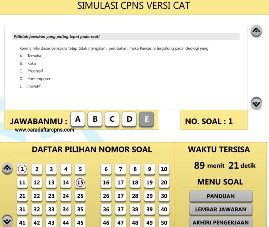 Download Soal Cpns Dan Kunci Jawabannya Informasi Cpns