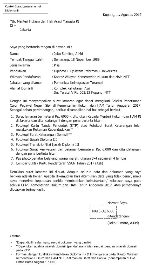 Contoh Surat Lamaran Cpns 2018 Surat Pernyataan Cpns Bagi