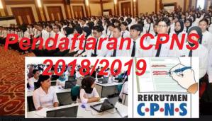 Petunjuk Cara Pendaftaran CPNS 2018 Online Lulusan SMA SMK D3 S1