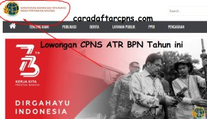 Hasil Akhir Seleksi CPNS ATR BPN 2018