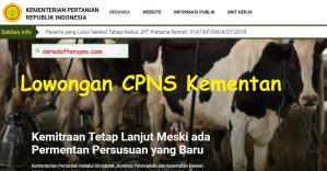 Pengumuman CPNS Kementerian Pertanian 2018 Lulusan SMA SMK D3 S1
