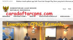 Pengumuman Pendaftaran CPNS Kemenlu Kementerian Luar Negeri 2018 SMA D3 S1