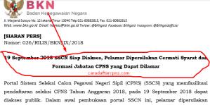 Jadwal dan Lokasi Pelaksanaan SKB CPNS BKN 2018