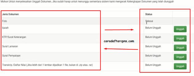 Cara Upload Dokumen Persyaratan CPNS