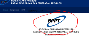 Pengumuman Hasil Tes SKD CPNS BPPT 2018