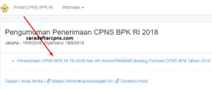 Hasil Tes SKB CPNS BPK 2018 Lulus Wawancara Psikotes