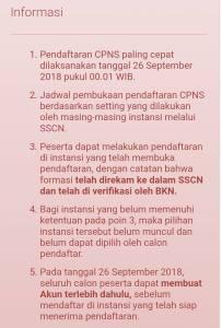 Pembukaan Pendaftaran Seleksi CPNS 26 September 2018