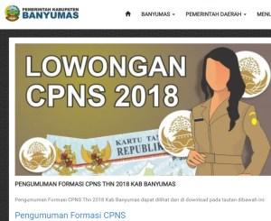 Pengumuman Hasil Seleksi Administrasi CPNS Kabupaten Banyumas 2018