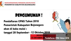 Pengumuman Hasil Tes SKD CPNS Kabupaten Bojonegoro 2018