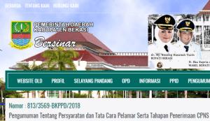 Hasil Akhir Seleksi CPNS Kabupaten Bekasi 2018